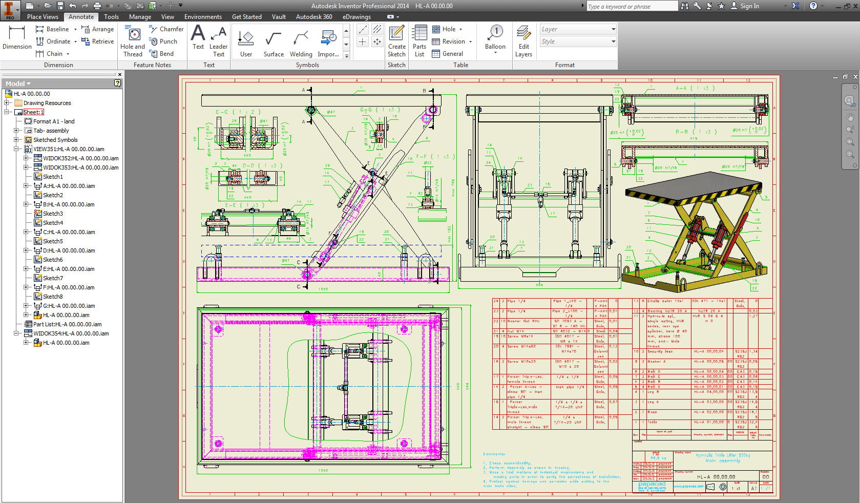 2D drawings DWG
