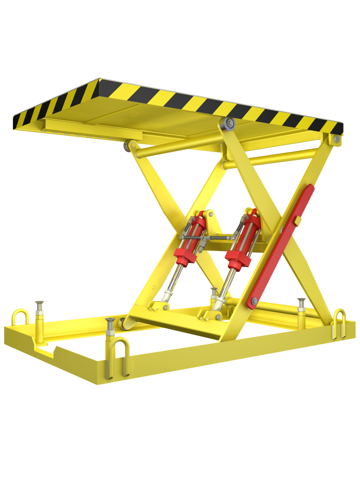 Hydraulic Scissor Lift design - Engineering CAD project with calculations