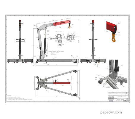 Homemade crane plans DIY project download