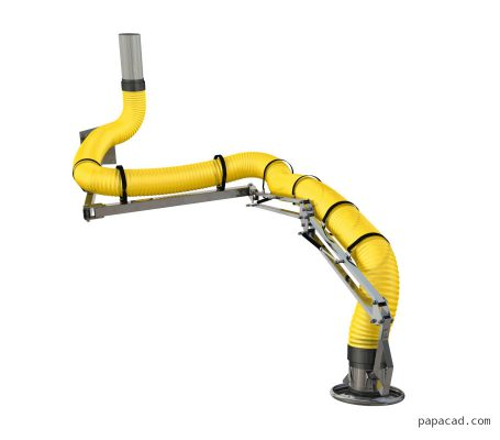 extraction arm design 3d model