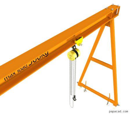 Building a gantry crane 2D drawings papacad.com