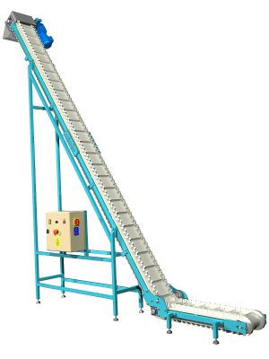 Cleated belt conveyor design download CAD project