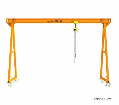 Gantry crane design download from papacad.com