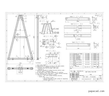Gantry crane drawing papacad.com