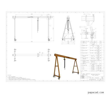 Gantry crane plans free download papacad.com