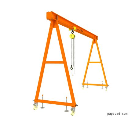 Workshop Light gantry crane design