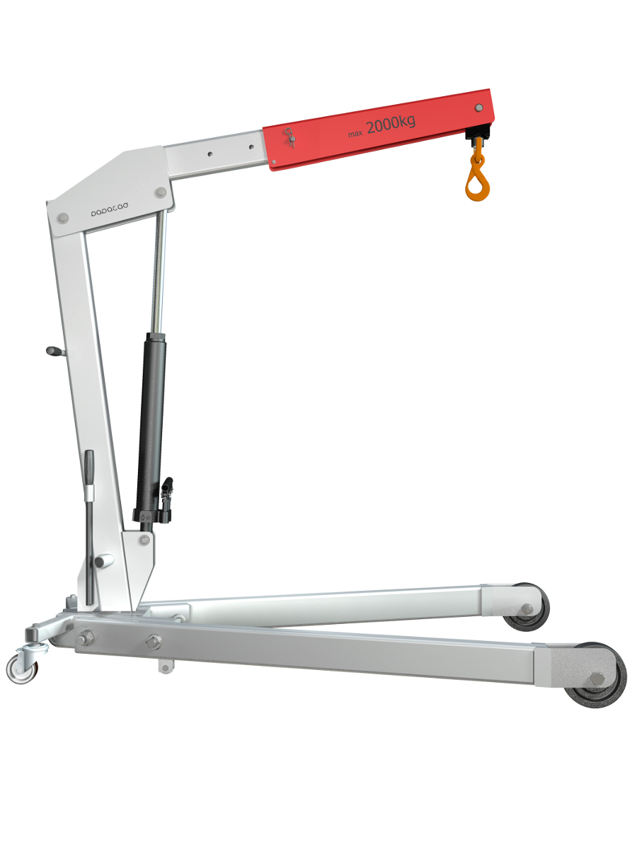 Principle Of Hydraulic Crane Project : Foldable crane work design cad drawings