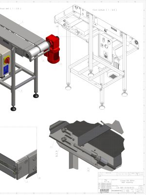 DIY Conveyor belt, 3D Models, CAD drawings free download