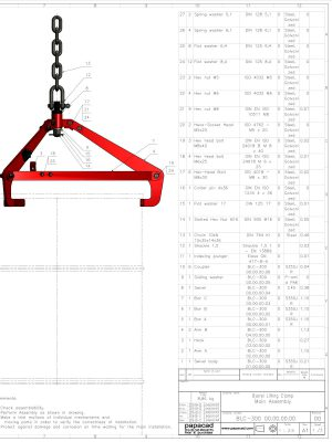CAD projects download - lifting clamp