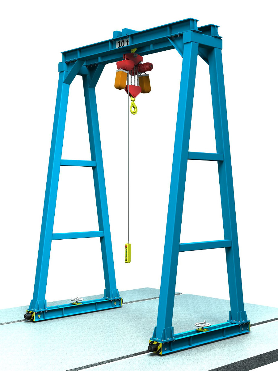 Gantry Crane Design - CAD design assembly