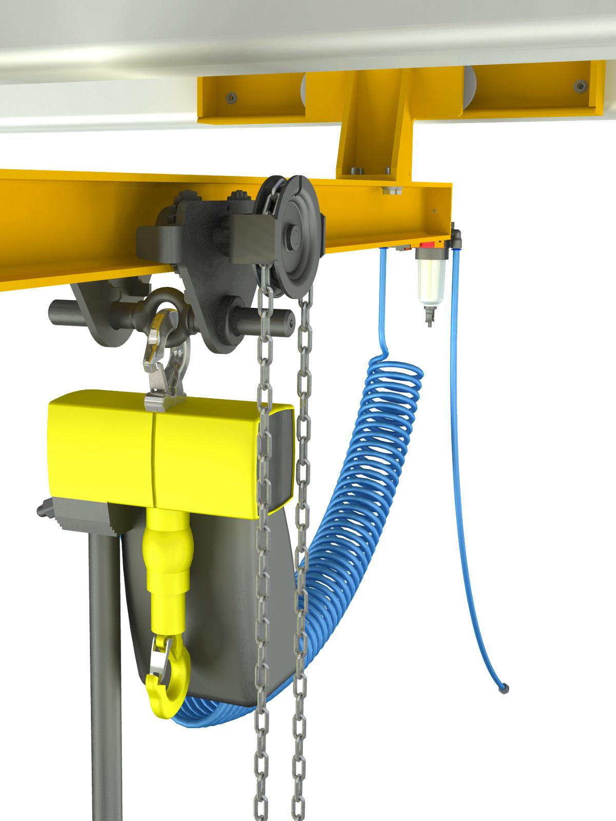 Overhead Crane Assembly : Bridge crane cad project download d inventor models