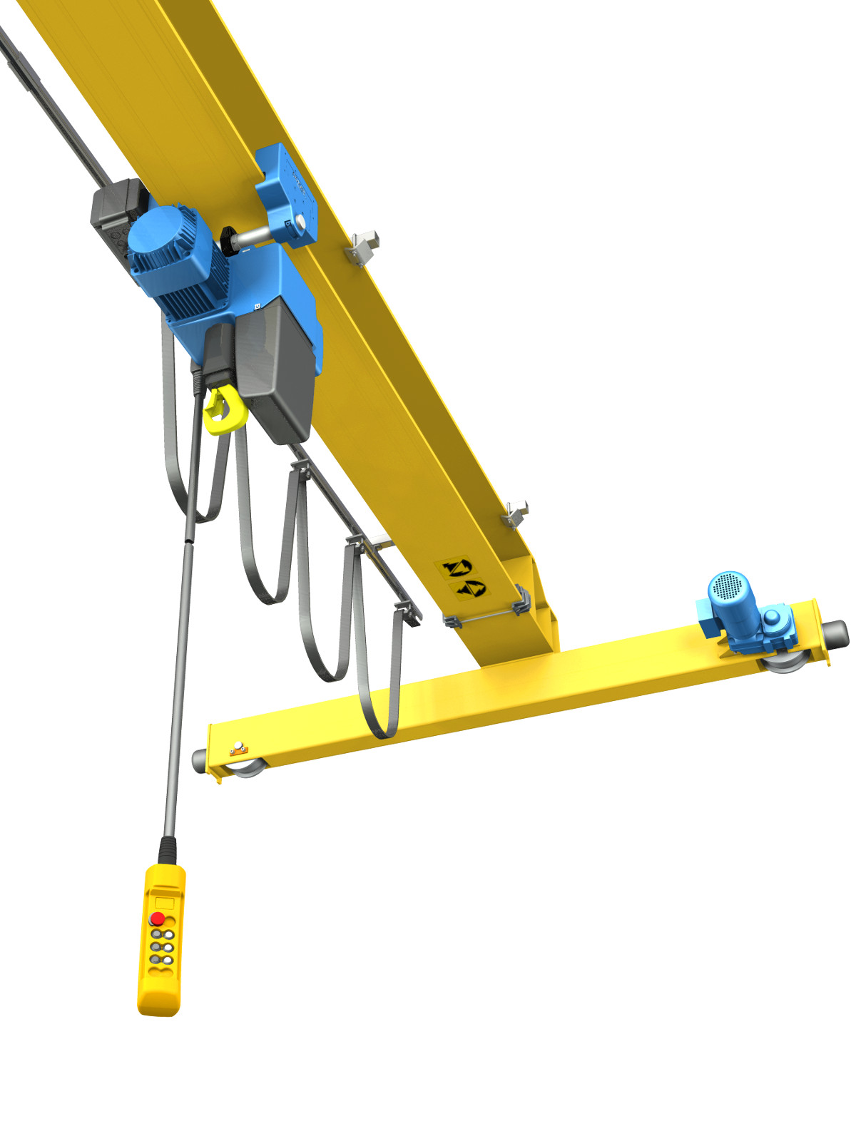 Single Girder Eot Crane Drawing : Single girder overhead crane d and cad design