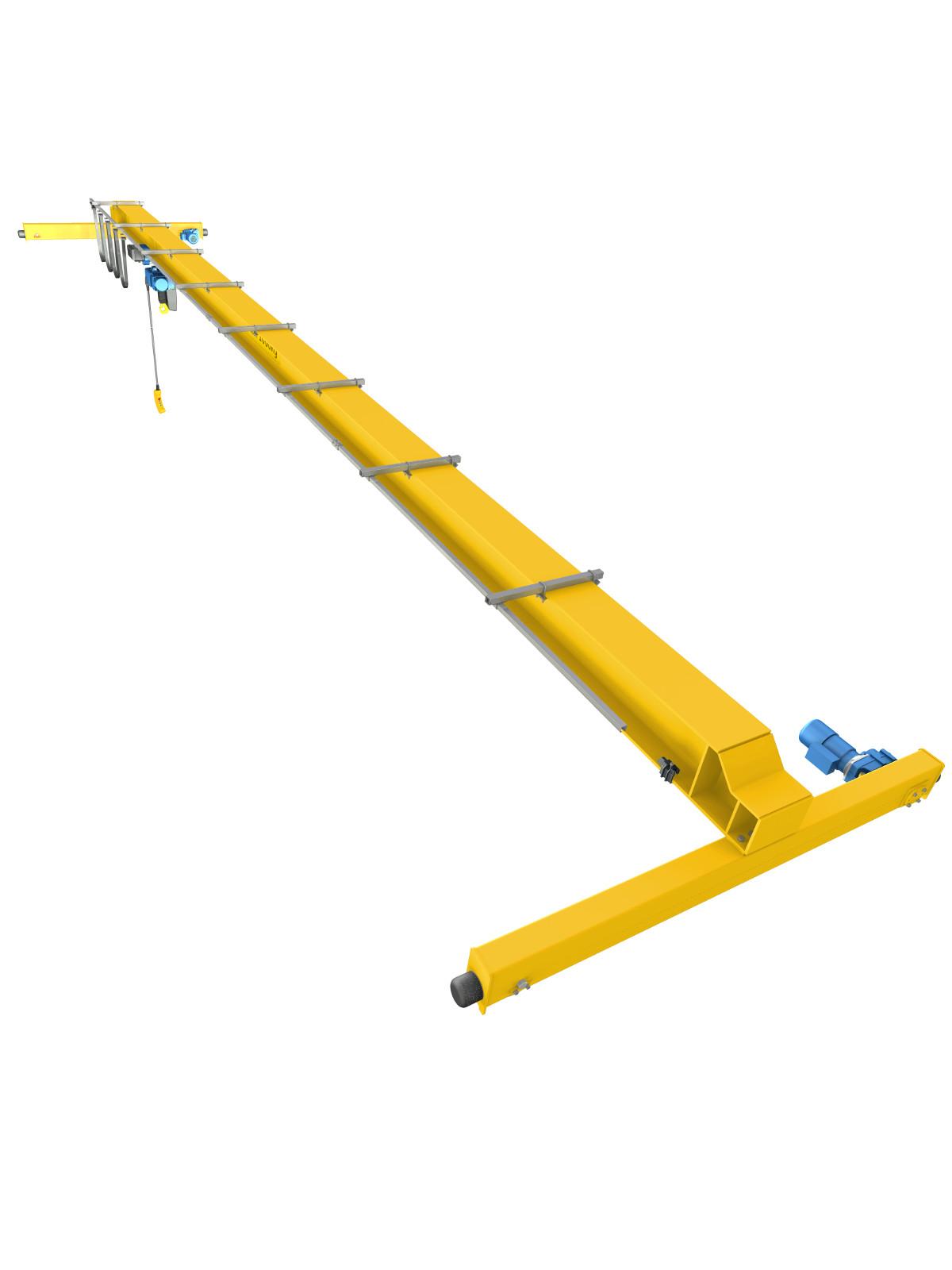 Overhead Crane Assembly : Single girder overhead crane d and cad design