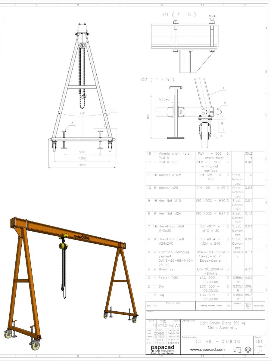 diy gantry crane - gantry crane plans