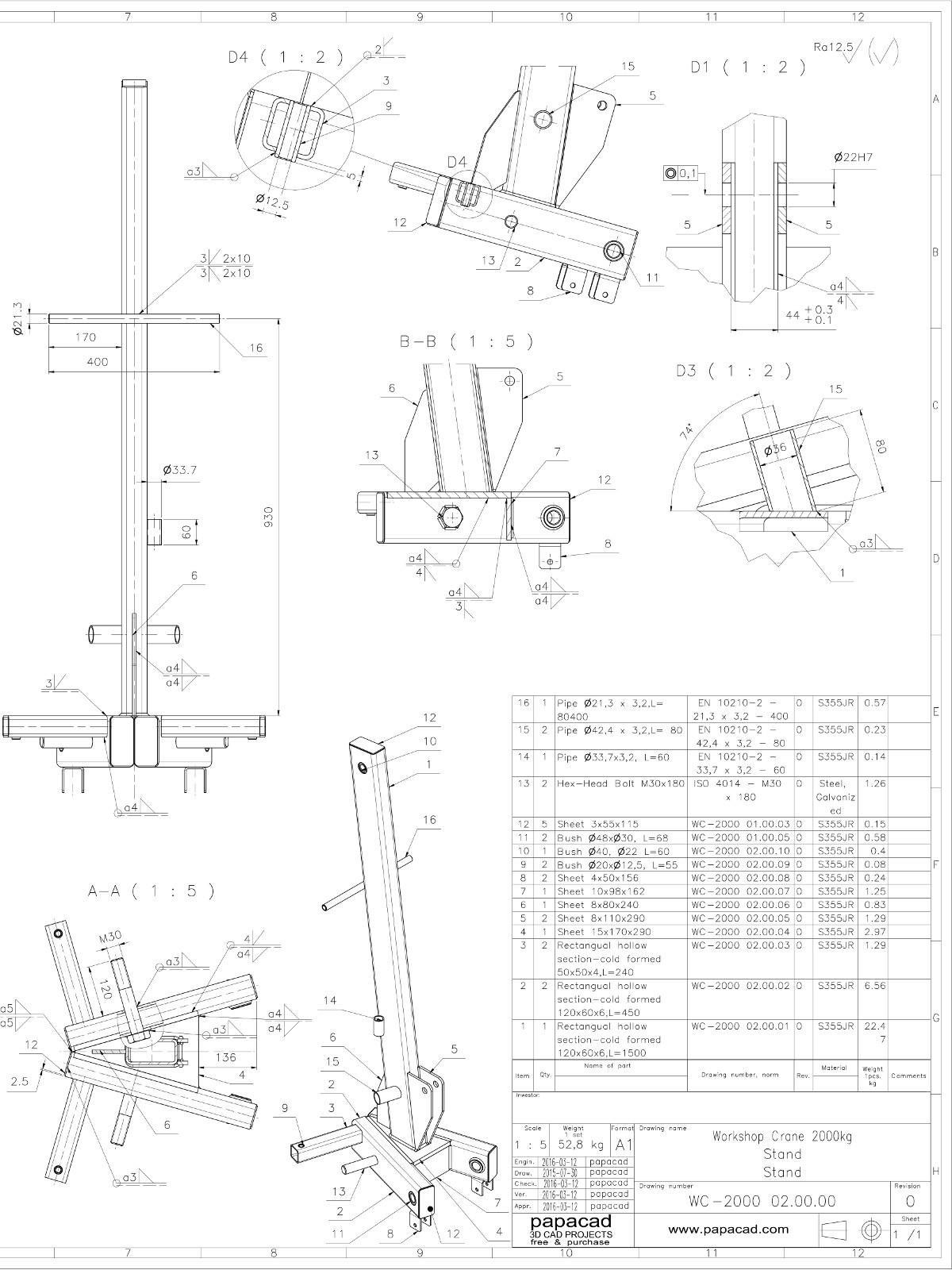Shop Crane Design Download Cad Hydraulic Foldable Plans Schematic Diy Workshop Project Pdf