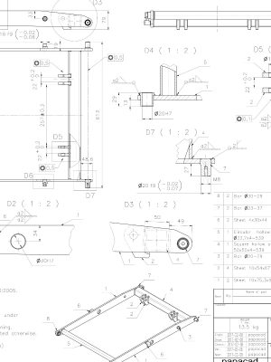 Scissor liftr plans CAD drawings
