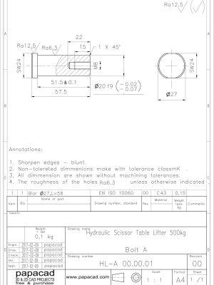 Diy Scissor Lift Table Download 3d And 2d Cad Complete Documentation