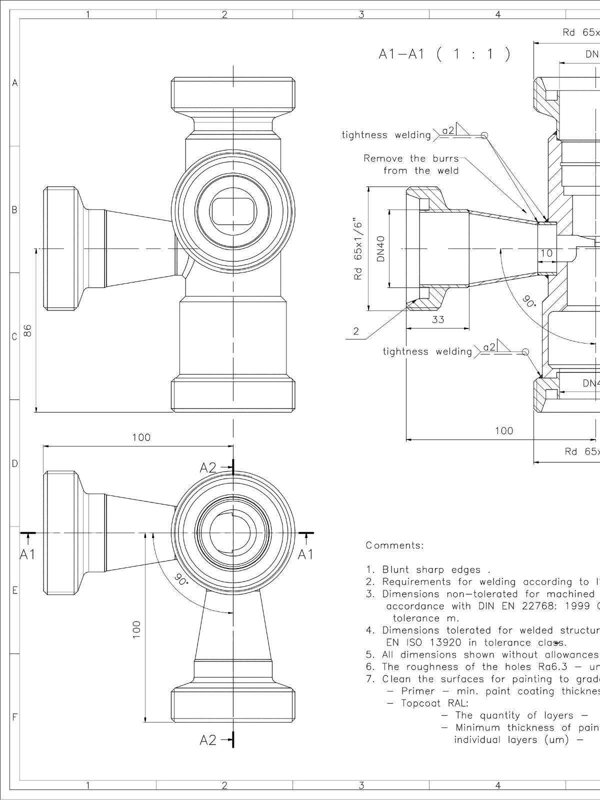 Valve DWG CAD drawings