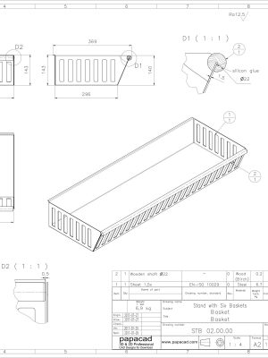 2D PDF Dimensioned CAD drawings