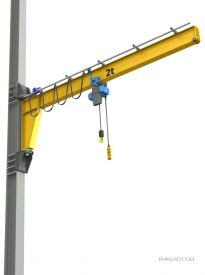 Wall mounted jib crane plans
