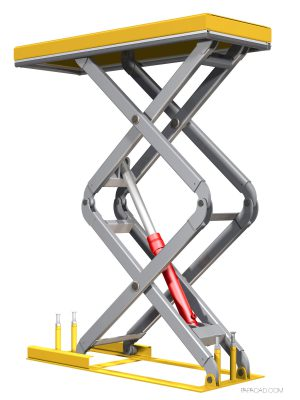 Scissor Table Lift 3D model