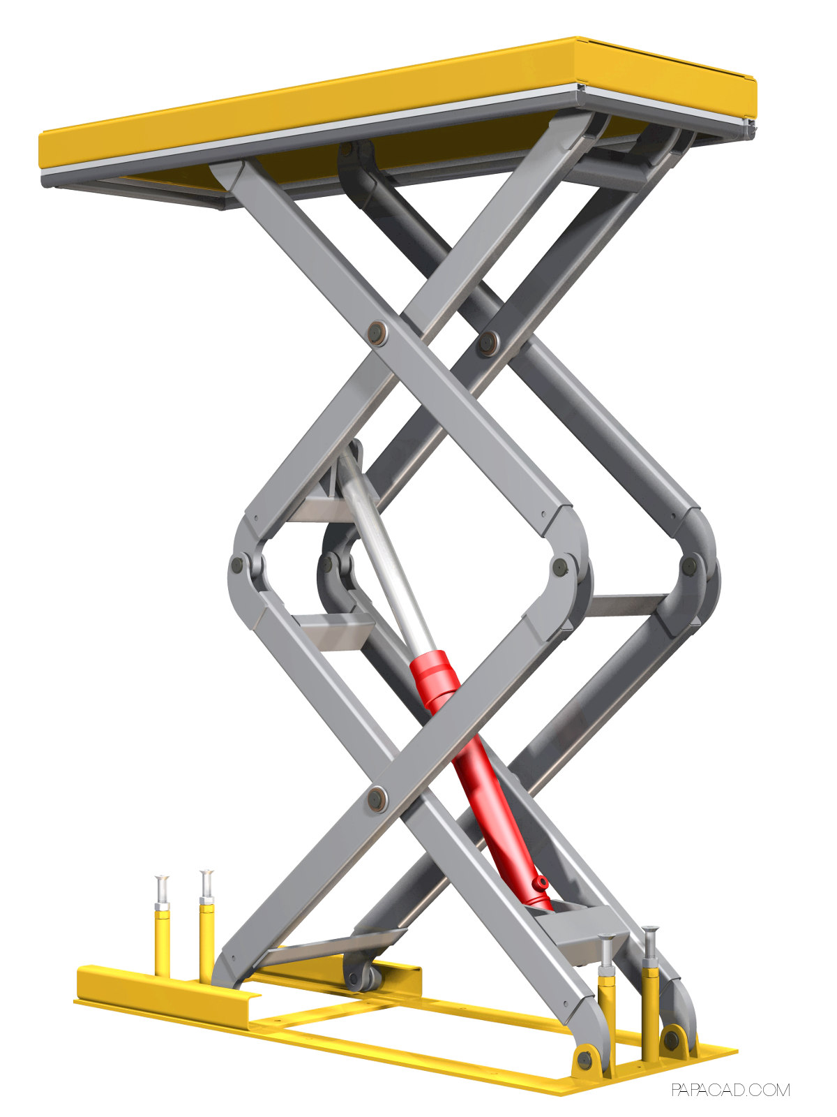 Scissor Table Lift 3D Model ...