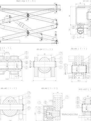 Scissor Table Lift CAD design