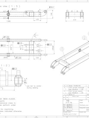 Hydraulic Table Lift CAD project