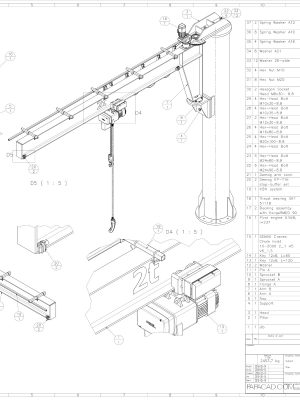 jib crane plans pdf and dwg download
