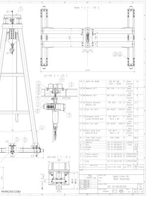 10t Heavy gantry crane drawings 2D