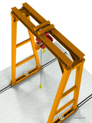 10t Gantry Crane CAD 3D model