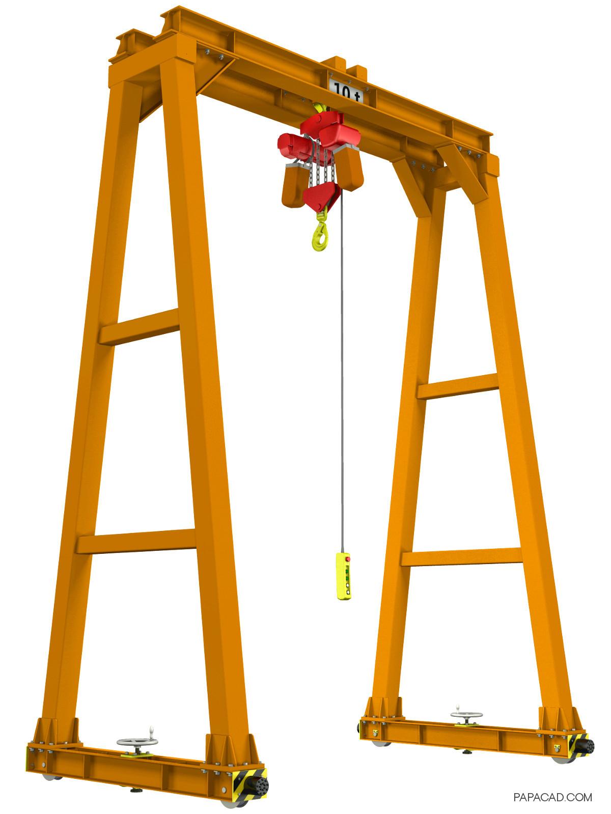 10t Gantry Crane DIY CAD project