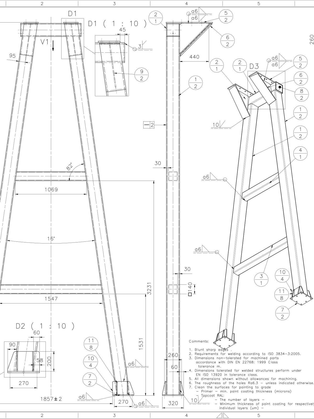 10t Gantry Crane production drawings