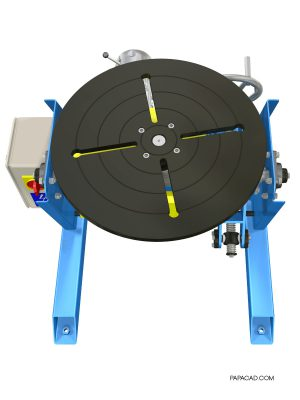 Welding turntable design_CAD project_papacad.com