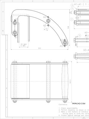 CAD drawing Gripper Panel carrier papacad.com