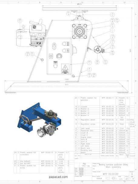 DIY Welding turntable positioner