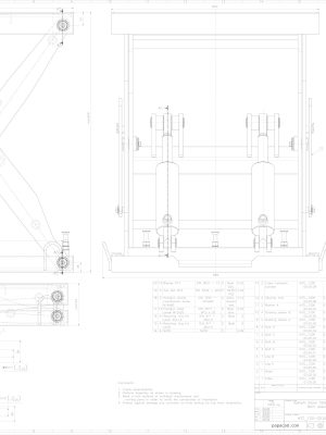 2D CAD drawings Hydraulic scissor table lifter 1200kg