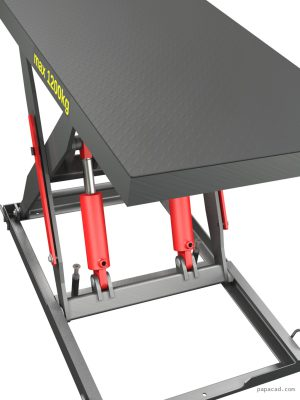 Hydraulic scissor table lifter 1200kg CAD drawings