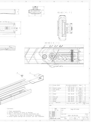 Snap of Knife 2D CAD drawings