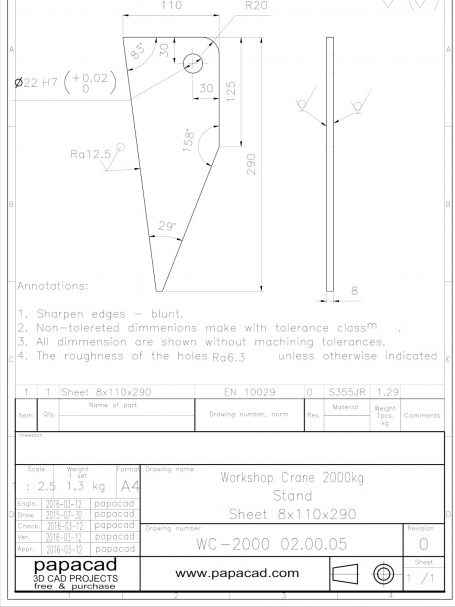 Foldable hydraulic crane plans papacad