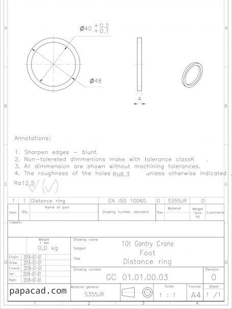 Gantry crane drawings papacad