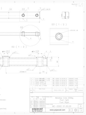 Small manual hydraulic crane plans from papacad