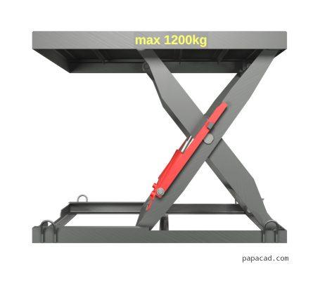 3D CAD model Hydraulic scissor table lifter 2D CAD drawings