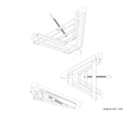Angle Fixing welding Clamp 2D drawings