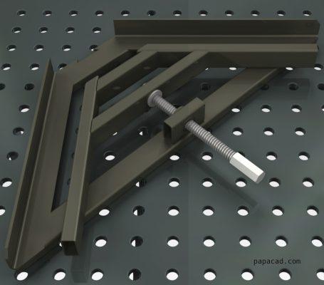Angle Fixing welding Clamp blueprints