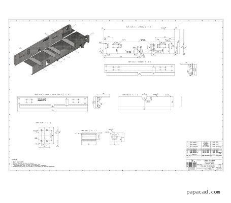Belt transporter pdf drawings from papacad.com