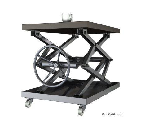 Coffe table scissor mechanism