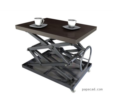 Cool coffee table design of steel