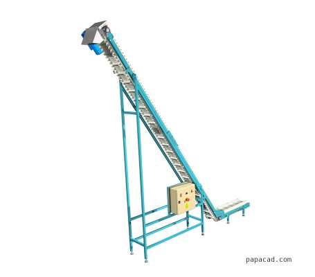 Corrugated sidewall belt conveyor design papacad