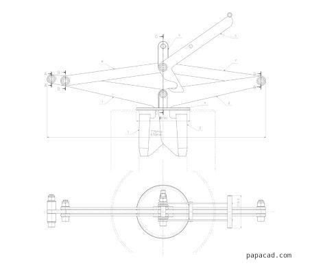 DIY lifting clamp for pipe drawings papacad.com